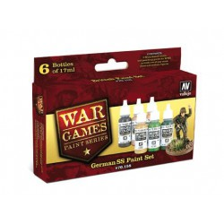 VALLEJO  WWII WARGAMES 6 FARB GERMAN SS PAINT SET