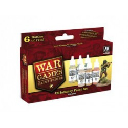 VALLEJO  WWII WARGAMES 6 FARB US INFANTRY PAINT SET