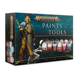 Warhammer AGE OF SIGMAR - Zestaw startowy PAINTS + TOOLS SET
