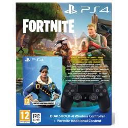 DUALSHOCK 4 v2 Czarny + dodatkowa zawartość do gry Fortnite PS4