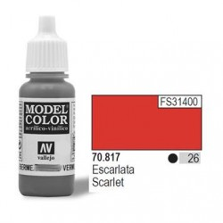 Farba Vallejo Model Color 70817 Scarlet 17ml