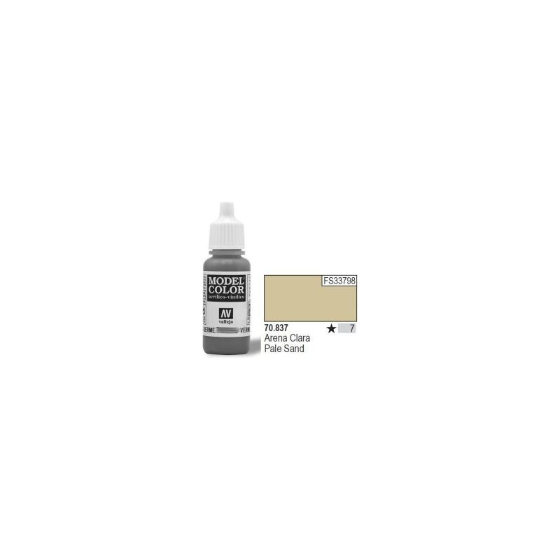Farba Vallejo Model Color 70837 - Pale Sand 17ml