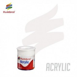 Humbrol Acrylic No 130 White Satin