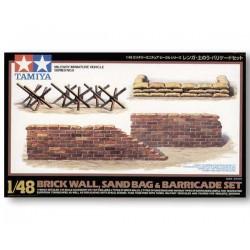 Tamiya 32508 Brick Sandbag Barricade Set