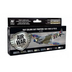 Zestaw Air War 8 farb WWII RAF Day Fighters Vallejo