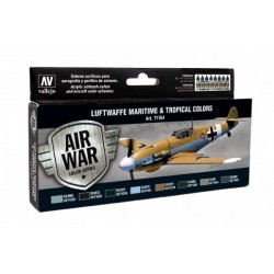 Zestaw Air War 8 farb Luftwaffe Maritime and Tropical Colors Vallejo