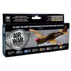 Zestaw Air War 8 farb - US Army Air Corps Colors (MTO) WWII Morze Śródziemne Vallejo