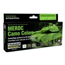 Zestaw Model Air 8 farb - MERDC Camo Colors US Army vehicles Vallejo