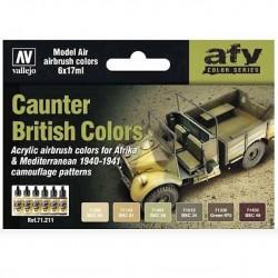 Zestaw Model Air 6 farb Caunter British Colors Vallejo