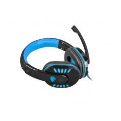 Słuchawki z Mikrofonem Fury Nighthawk Led Gaming Czarno-niebieskie