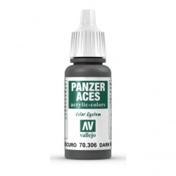 Farba Vallejo Panzer Aces Color 70306 Dark Rubber