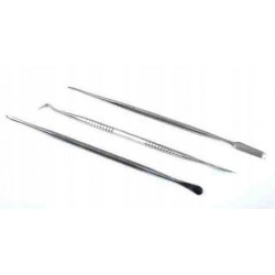 Italeri 50819 Set of 3 Stainless Steel Carvers Zestaw dłut