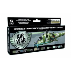Vallejo 71601 Zestaw Air War 8 farb Soviet / Russian colors Combat Helicopters post WWII to present