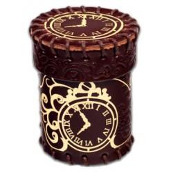 Kubek skórzany Steampunk brązowo-złoty na kości