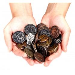 Metalowe Monety Futurystyczne zestaw 24 monet