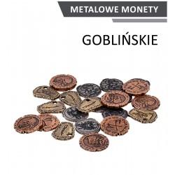 Metalowe monety Goblińskie zestaw 24 monet