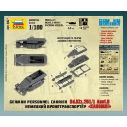 Zvezda 6127 1:100 Sd.Kfz.251/1 Ausf.B Hanomag