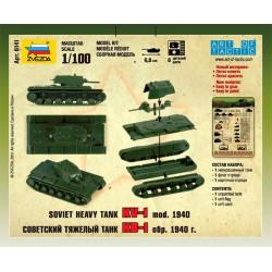 Zvezda 6141 1:100 Soviet Heavy Tank KW-1
