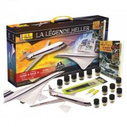 Heller 52324 1:100 Starter Set La Legende Concorde+Caravelle+książka