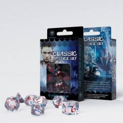 Kości RPG Klasyczne Przejrzysto-niebiesko czerwone