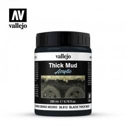 Vallejo Black Thick Mud Acrylic 26812 masa modelarska 200ml