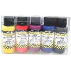 Vallejo 62104 Zestaw Premium RC Color 5 farb Candy Color 60ml