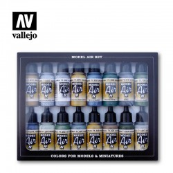 Vallejo 71189 WWII British Aircraft Model Air Paint Set 16 farb