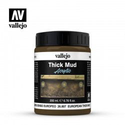 Vallejo 26807 Thick Mud Textures 200 ml. European Thick Mud