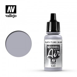 Vallejo 71063 Model Air Silver 17 ml.