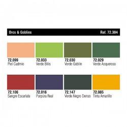 Vallejo 72304 Game Color Zestaw 8 farb Orcs&Goblins by Angel Giraldez