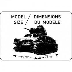 Heller 60975 1:72 Constructor Kit Somua S35+Figurki Piechota Niemiecka+podstawka
