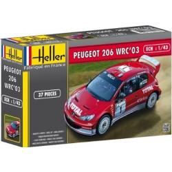 Heller 80113 1:43 Peugeot 206 WRC 2003