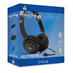 4Gamers PRO4-40 Wired Stereo Gaming Headset Black s4