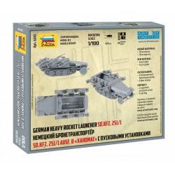 "Zvezda 6243 1:100 Sd.Kfz. 251/1 Ausf.B ""Stuka zu Fuss"" Rocket Launcher"