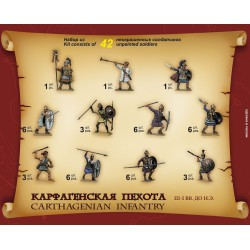 Zvezda 8010 1:72 Carthaginian Infantry III I B.C