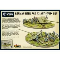 Bolt Action German Heer Pak 43 anti-tank gun