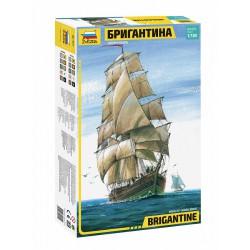 Zvezda 9011 1:100 Brigantine Two-mast sailing Vessel