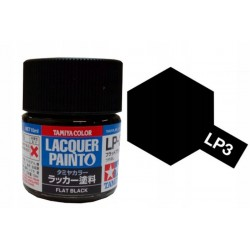Tamiya 82103 LP-3 Farba Flat Black 10 ml