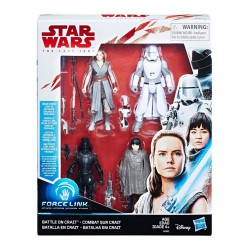 Hasbro Star Wars Episode VIII Force Link Action Figure 4-Pack 2018 Battle on Crait 10 cm
