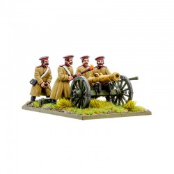 Black Powder Crimean War Russian Foot Artillery with 12-pdr Cannon