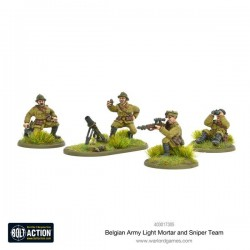 Bolt Action Belgian Army Light Mortar & Sniper Teams