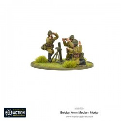 Bolt Action Belgian Army Medium Mortar Team