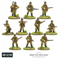 Bolt Action Belgian Army Infantry squad