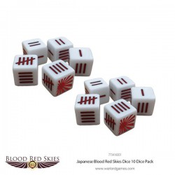 Blood Red Skies Japanese Dice Set