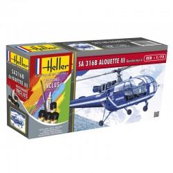 Heller 56286 1:72 Starter Set SA Alouette III Gendarmerie