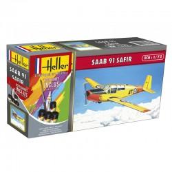 Heller 56287 1:72 Starter Set SAAB Safir 91