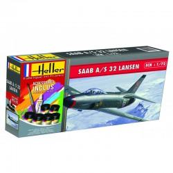Heller 56343 1:72 Starter Set SAAB 32 Lansen
