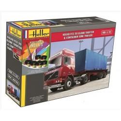 Heller 57702 1:32 Volvo F12-20 Globe Trotter & Container Semi Trailer