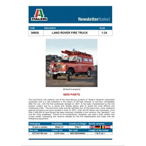 Italeri 3660 1:24 Land Rover Fire Truck