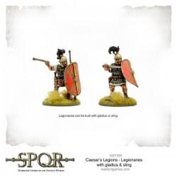 SPQR Caesar's Legions Legionaries with Gladius & Sling